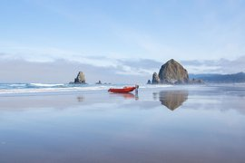 Cannon Beach on the Oregon coast.