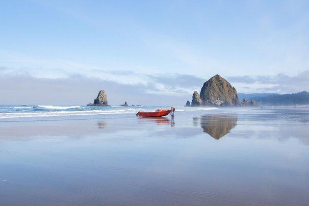 Cannon Beach on the Oregon coast.