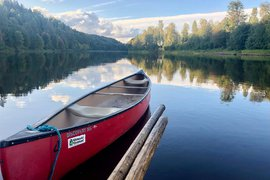 Canoeing on the Klarälven river in Sweden.