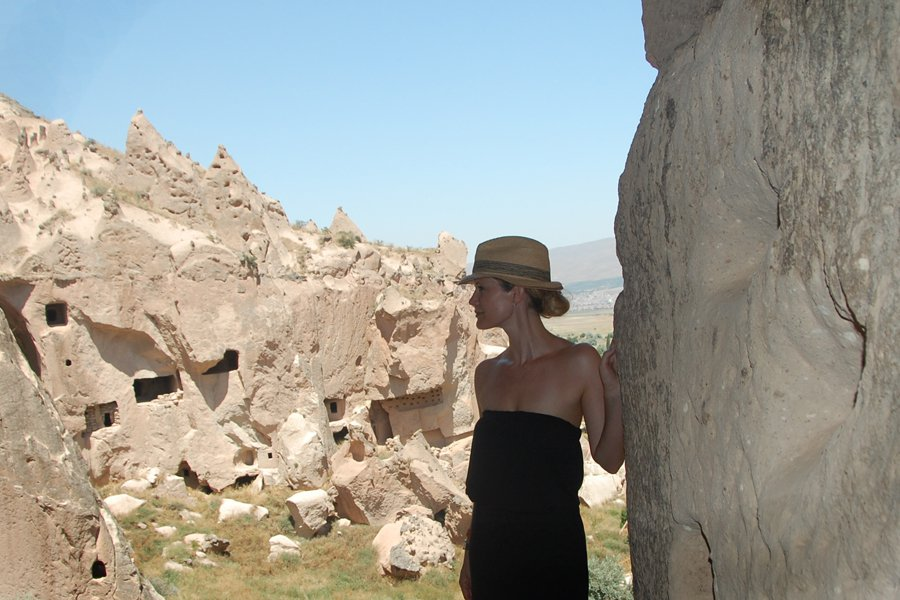 Cappadocia, in dramatic silhouette.