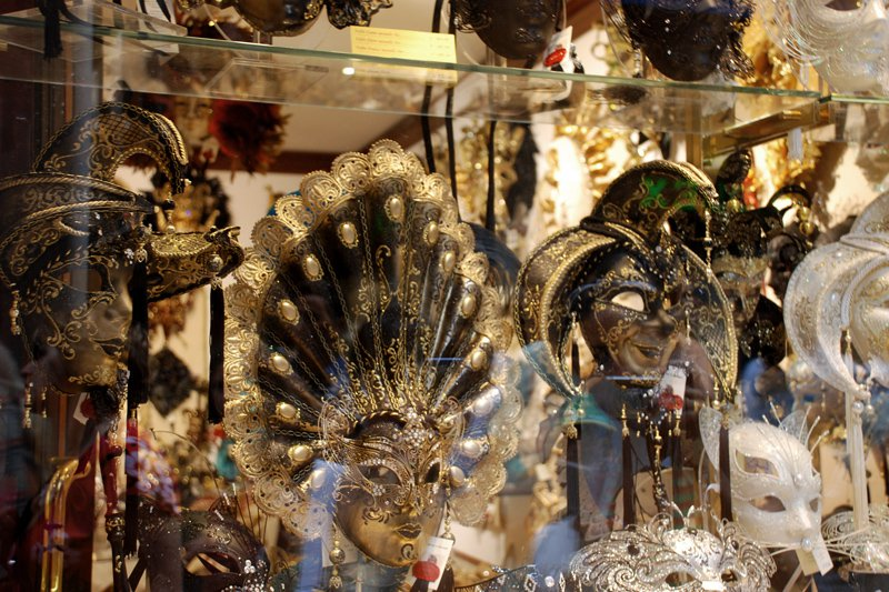 """Masks in a shop window. You see this everywhere in Venice. Photo: <a title=""""Chiara Marra on flickr"""" href=""""http://www.flickr.com/photos/chiaramarra/1206944708/"""" target=""""_blank"""">Chiara Marra</a> / Flickr"""