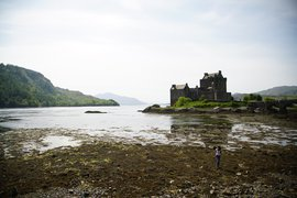 Exploring a marsh and castle in Scotland