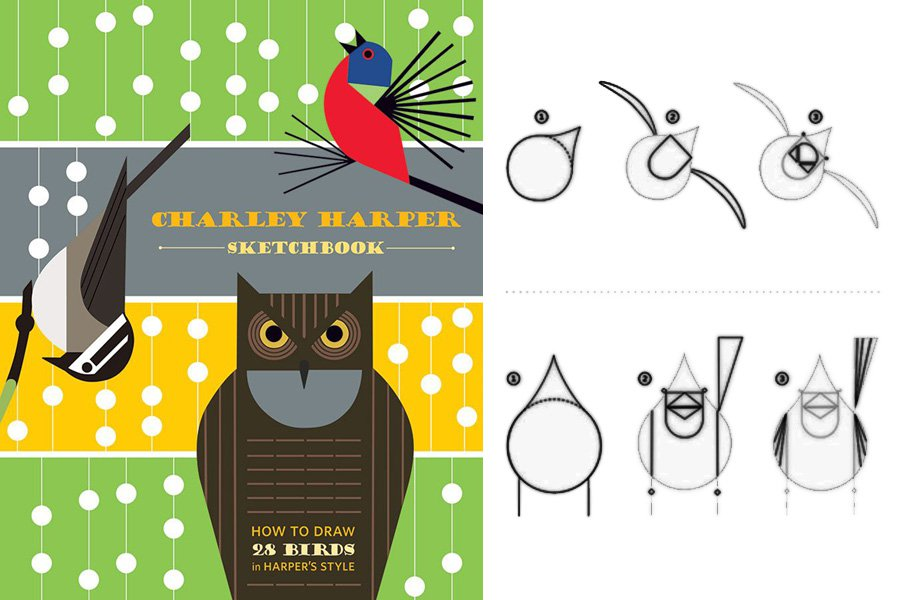 Charley Harper Sketchbook: How to Draw 28 Birds