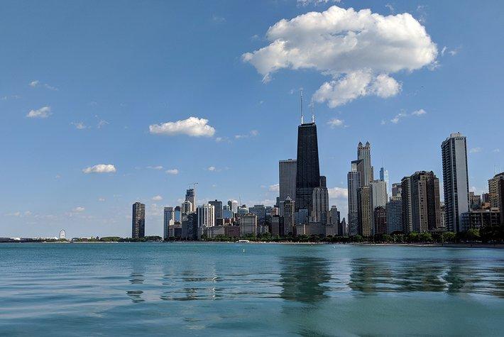 Downtown Chicago skyline.