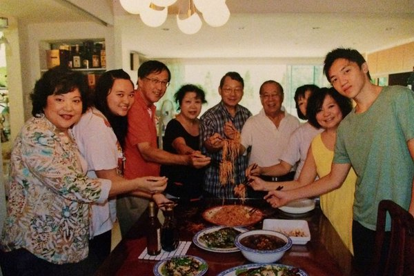 Author Becky Cheang and family on Chinese New Year.