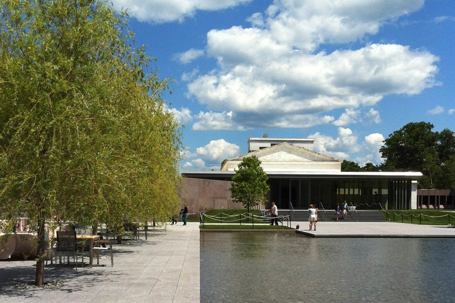 Outdoor Patio and new museum entrance
