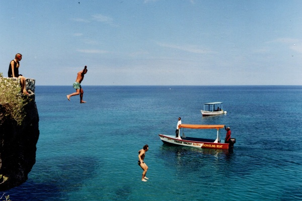 Cliff Diving with Famous Vincent's Glass Bottom Boat