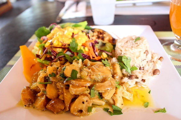 Conch Stew at Sunshines Beach Bar & Grill Nevis