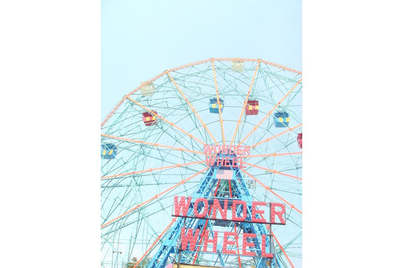 At the center of the amusement park is the world-famous Wonder Wheel, a New York City Landmark built in 1920.