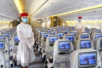 Emirates cabin interior.