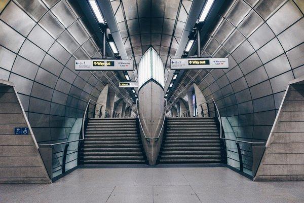 An empty train station