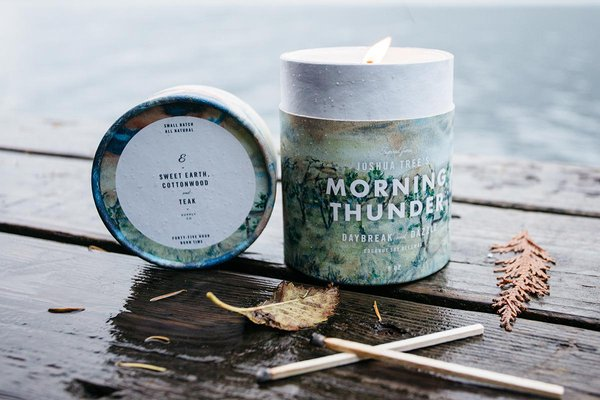 Ethics Supply Co. Joshua Trees Morning Thunder Candle