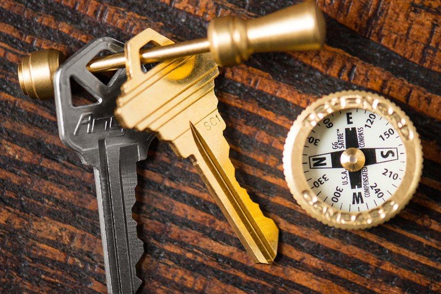 Tru Nord Brass Pocket Compass