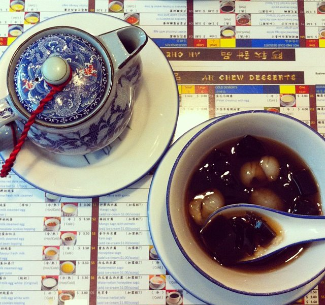 3. Grass Jelly with Longan