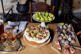 Mimi Thorisson's fig and pistachio cake from French Country Cooking.