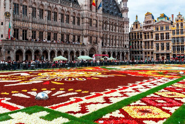 2018 Flower Carpet in Brussels, Belgium.