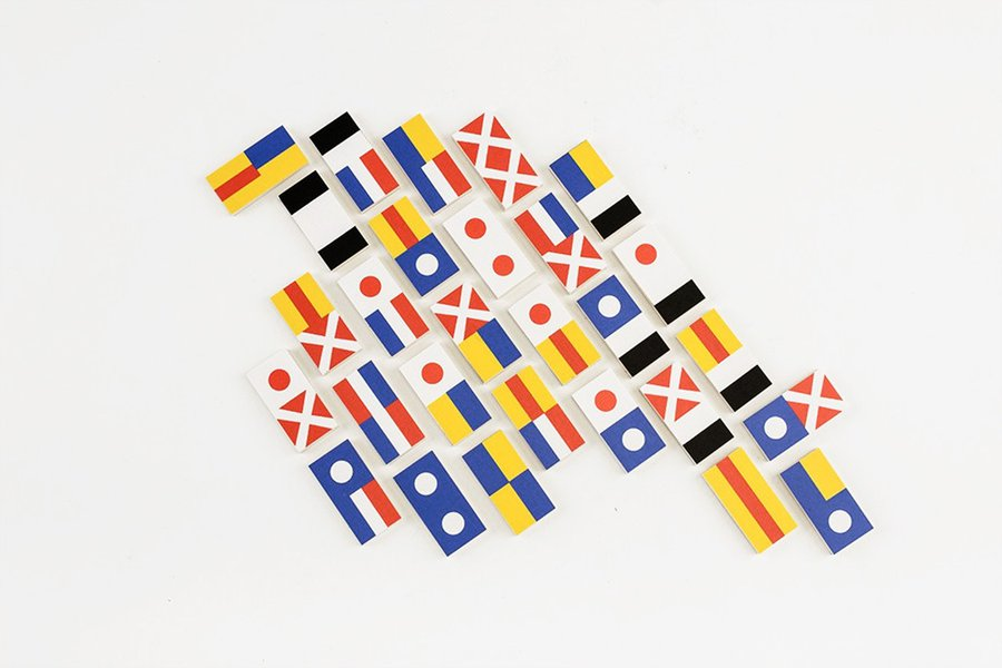 Fredericks & Mae Flag Dominos