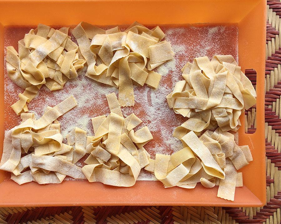 Freshly made pasta