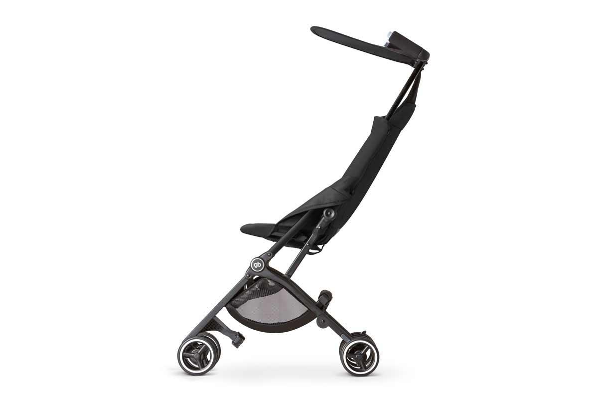 unfolded stroller