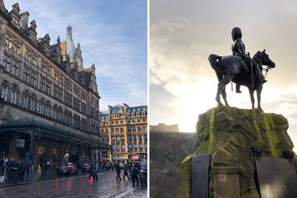 Glasgow versus Edinburgh, Scotland