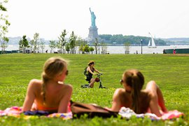 The view from Governors Island.