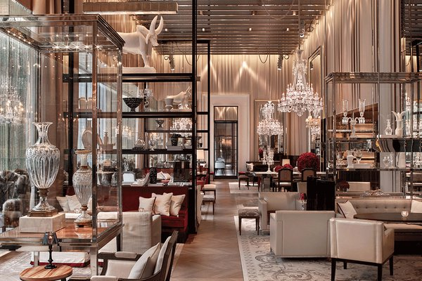 Grand salon at the Baccarat Hotel in New York.