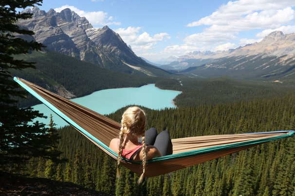 Hammock in Banff/Jasper National Park