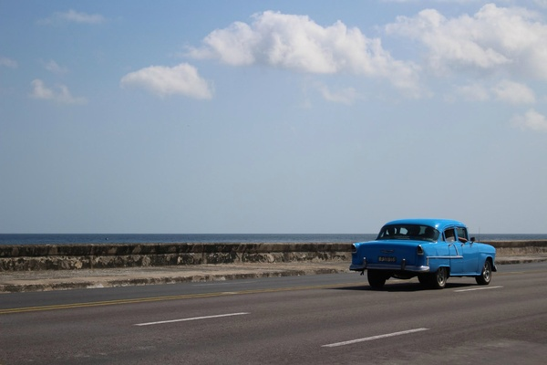Car along the Malecon, Havana