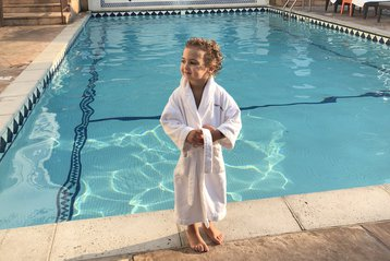 Little girl by the pool in Los Angeles.