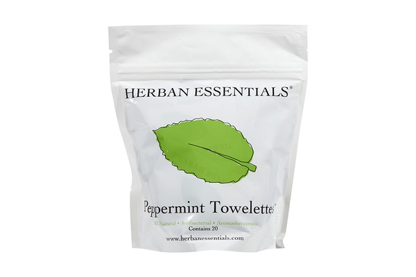 Herban Essentials Peppermint Towelettes