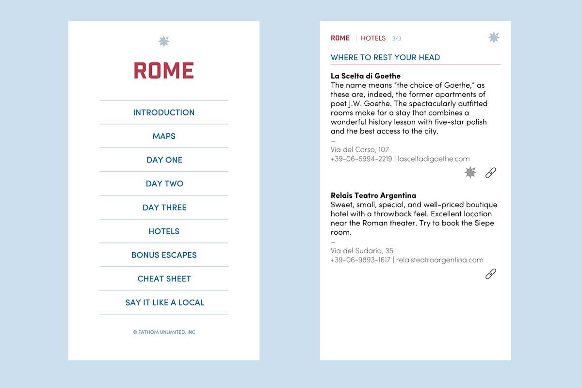 Fathom Rome Honeymoon Guide