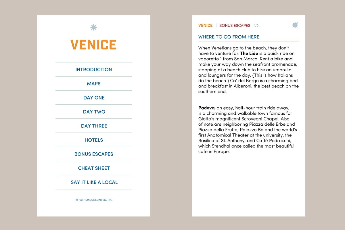 Venice Honeymoon Guides