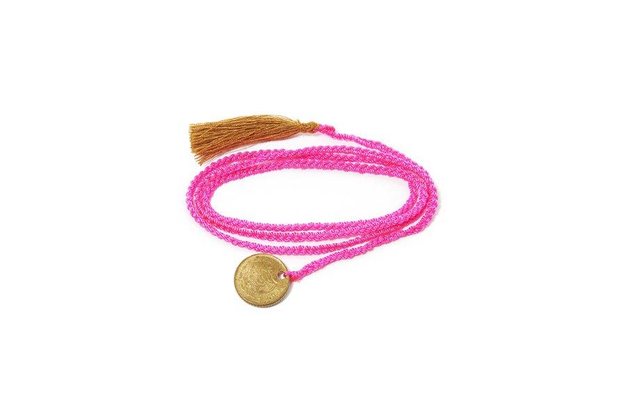 Hot Pink Hand Woven Pulsera Iris Bracelet