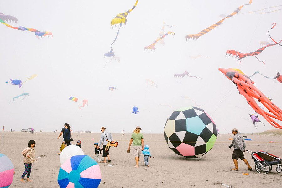 Kite Festival in Long Beach, Washington