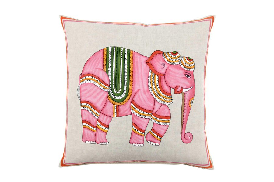 From India: Pink Elephant Pillow