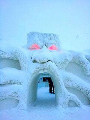 SnowCastle Entrance
