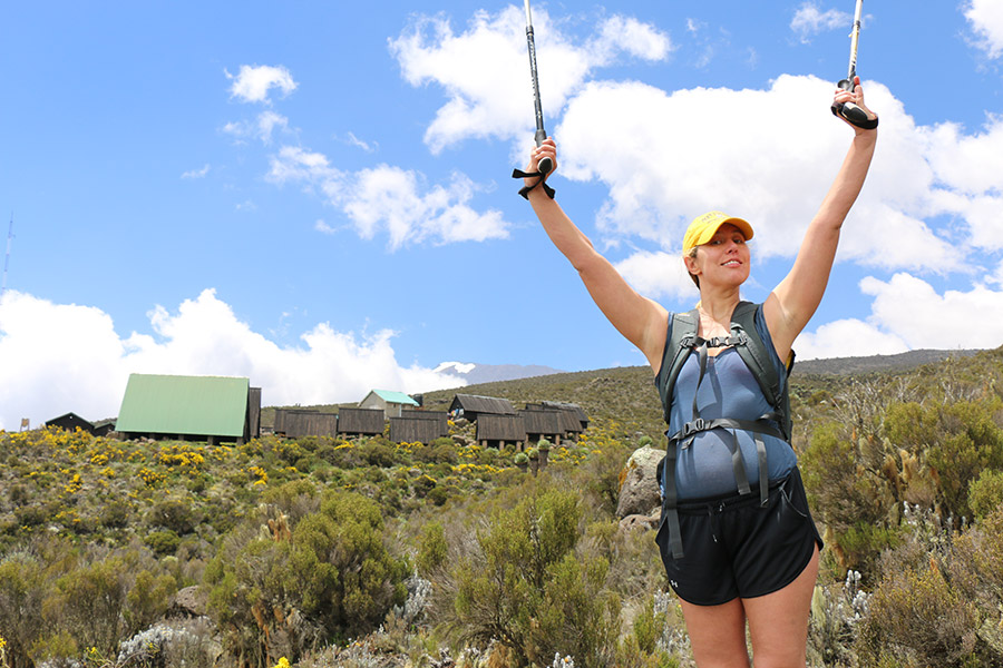 Jo Piazza climbing Mount Kilimanjaro