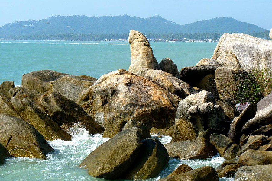 Suggestive Rock Formation on the Beach