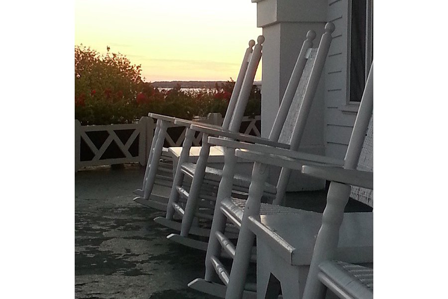 "Enjoying sunset from the longest front porch in America. Photo by <a title=""liveshark"" href=""http://instagram.com/liveshark"" target=""_blank"">@liveshark</a>"