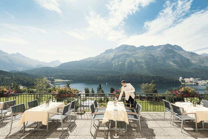 Kulm Hotel in St. Moritz.
