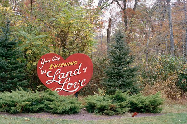 Land of Love sign. Photo by Kit Chaney