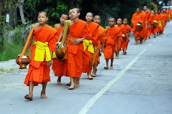 Novice monks in Luang Prabang, Laos