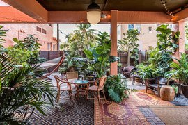 Courtyard at Life House Little Havana.