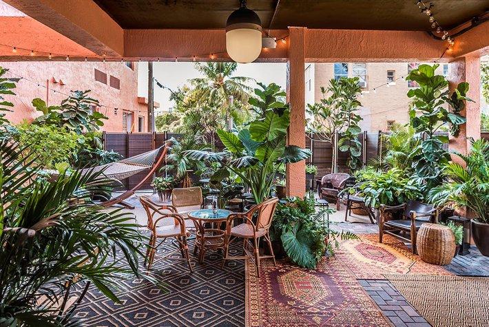 Courtyard at Life House Little Havana.