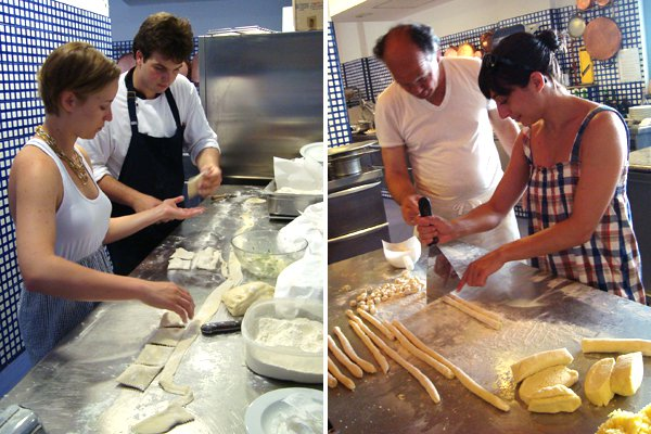 Cooking school at Lo Scoglio