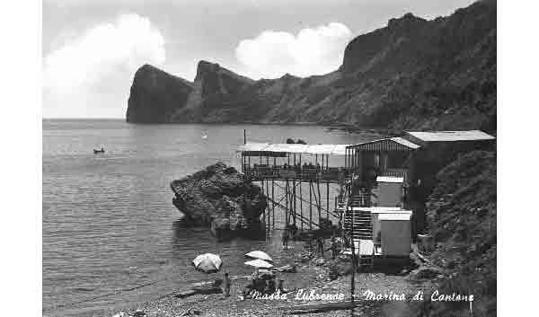 An old postcard of Lo Scoglio. Photo courtesy Margherita De Simone.