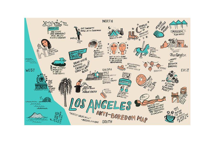 LA Anti-Boredom Map Card