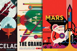 NASA's WPA-Inspired Space Travel Posters
