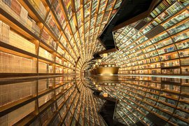 Book Tunnel in Hangzhou Zhongshuge in China.