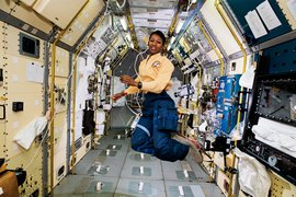 Mae Jamison in space.